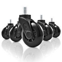 Sharkoon Szék tartozék - SW10 székgörgő csomag (Univerzális csap; Görgő átmérő: 75 mm; fekete; Max.: 150 kg)