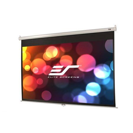 """EliteScreens 100"""" (16:9) manuális fali vászon M100XWH-E24 (221 x 125 cm, Fehér váz)"""