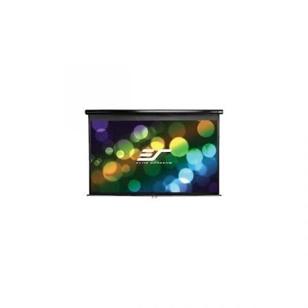 """EliteScreens 106"""" (16:9) manuális fali vászon M106UWH-E24 (235 x 132 cm, Fekete váz)"""
