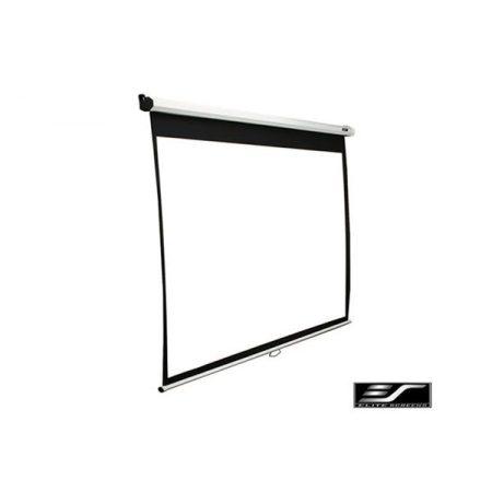 """EliteScreens 86"""" (16:10) manuális fali vászon M86NWX (185 x 116 cm, Fehér váz)"""