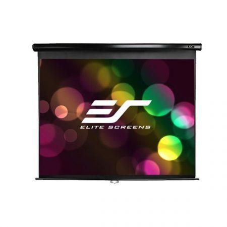 """EliteScreens 99"""" (1:1) manuális fali vászon M99UWS1 (178 x 178 cm, Fekete váz)"""