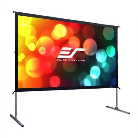 """EliteScreens 135"""" (16:9) mobil szabadtéri vászon OMS135H2 (299 x 168 cm, Fekete) + táska"""