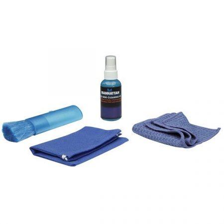 Manhattan LCD tisztító - Kit, Alkohol Mentes, Tisztító kendővel, ecsettel 60ml