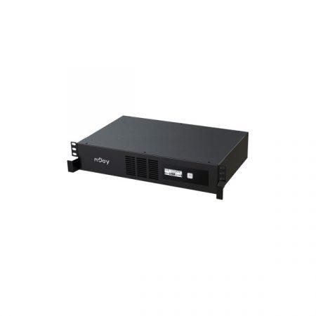 NJOY Szünetmentes 2000VA - Code 2000 (8 IEC C13, line-interaktív, USB menedzsment, szoftver, LCD kijelző, 2U rack)