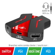 Spirit of Gamer Egér/Billentyűzet adapter konzolokhoz - SOG-CONV2 (Audio, 3x USB-A, 2x USB-C, Nintendo/PS4/PS3/Xbox One)