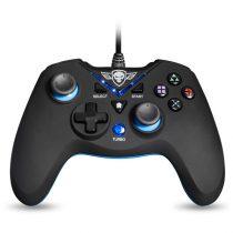 Spirit of Gamer Gamepad - XGP WIRED Blue (USB, 1,8m kábel, Vibration, PC és PS3 kompatibilis, fekete-kék)