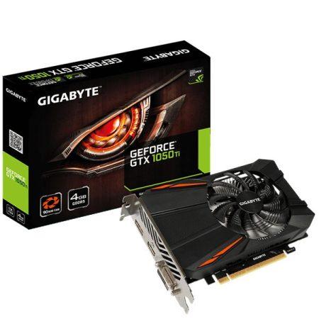 Gigabyte Videókártya - nVidia GTX1050 Ti (4096MB, DDR5, 128bit, 1290/7008Mhz, DVI, HDMI, DP)