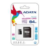 ADATA Memóriakártya MicroSDXC 64GB + Adapter UHS-I CL10 (50/10)