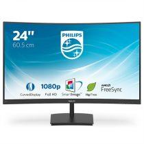 "Philips ívelt monitor 241E1SC/00 - 23,6"", 1920x1080, 16:9, 250 cd/m2, 4 ms, 75 Hz, VGA, HDMI, FreeSync"