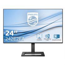 "PHILIPS IPS monitor 23,8"" 242E2FA, 1920x1080, 16:9, 300 cd/m2, 1ms, 75Hz, VGA/DP/HDMI, hangszóró"