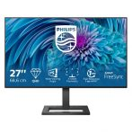 "Philips IPS monitor 27"" - 275E2FAE/00, 2560x1440, 16:9, 350 cd/m2, 4ms, HDMIx2, DisplayPort, hangszóró, állítható mag."