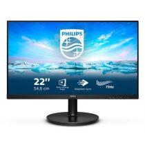 """PHILIPS VA LCD monitor 21,5"""" 221V8LD, 1920x1080, 16:9, 25cd/m2, 4ms, 75Hz, 3000:1, HMDI/DVI-D/VGA"""