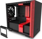 NZXT H210i Mini-ITX Case Window Matte Black/Red