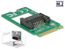 Delock Adapter, M.2 aljzat B nyílással, csatlakozódugó > 7 tus SATA - formatényezo (2242)
