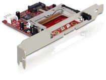"""Delock SATA 31""""-os kártyaolvasó Compact Flash I/II és IBM Micro Drive típusokhoz"""