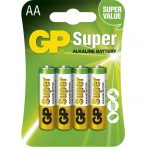 GP Super alkáli AA (LR06) ceruza elem 4db/zsugor