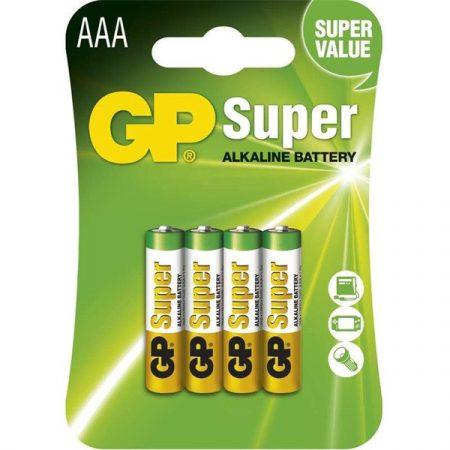 GP Super alkáli AAA (LR03) mikro ceruza elem 4db/bliszter