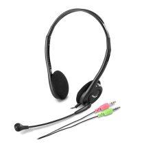 Genius HS-200C jack fekete headset