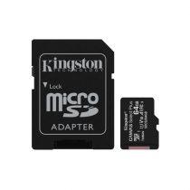 Kingston 64GB SD micro Canvas Select Plus (SDXC Class 10 A1) (SDCS2/64GB) memória kártya adapterrel