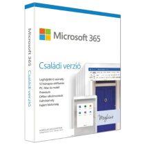 Microsoft 365 Családi verzió P6 HUN 6 Felhasználó 1 év dobozos irodai programcsomag szoftver
