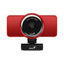 Genius Ecam 8000 1080p piros webkamera