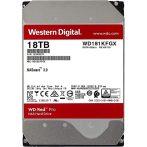 """Western Digital 3,5"""" 18000GB belső SATAIII 7200RPM 512MB RED PRO WD181KFGX winchester 5 év"""