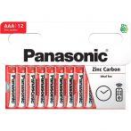 Panasonic Red Zinc AAA mikro ceruza 1.5V cink-mangán tartós elem 12db/csomag
