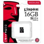 Kingston 16GB SD micro Industrial (SDHC Class 10 A1) (SDCIT2/16GBSP) memória kártya